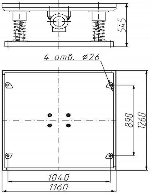 размеры вибростола для тротуарной плитки